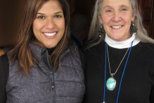 Jennifer Jimenez and Carolyn Kohlman, Hospitality Chair of the Jewish Genealogical Society of Greater Boston.