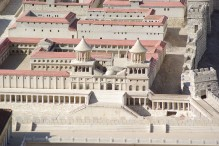 A model of a Hasmonean palace in Jerusalem (Photo: Berthold Werner)