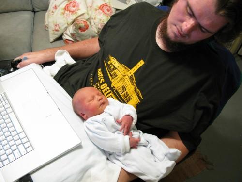 Patrick O'Brien with his son, Sean (Photo credit: TransFatty Lives)