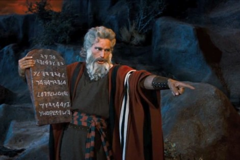 Charlton Heston as Moses in The Ten Commandments (Photo: American Broadcasting Company/Paramount Pictures/Paramount Home Video)