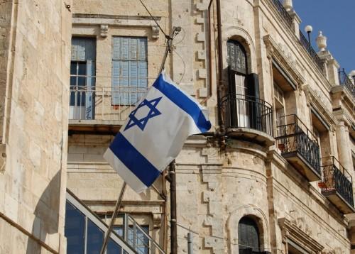 israel-flag-jaffa-gate
