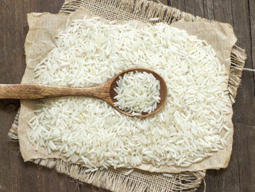 Basmati rice with a spoon (Photo by Karissa/iStock.com)