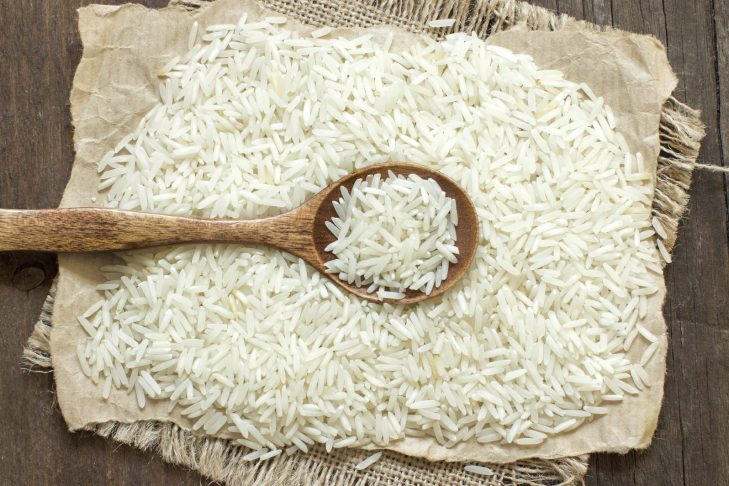 Basmati rice with a spoon (Photo by Karissa/iStock.com)