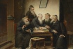 At the Rabbi's by Carl Schleicher (1825-1903)
