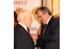 President Komorowski awarding Julian Bussgang the Knight's Cross of the Order of Merit at Polish Consulate in NY 2011.