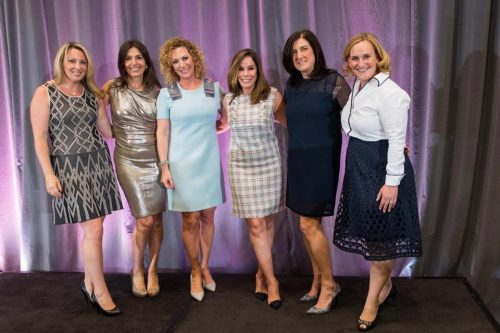 From left: Diana Peselman, Laure Garnick, Mimi Golub, Melissa Rivers, Heidi Pearlson, and Pam Forman. (JUSTIN KNIGHT)