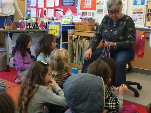 Maura with 1st graders