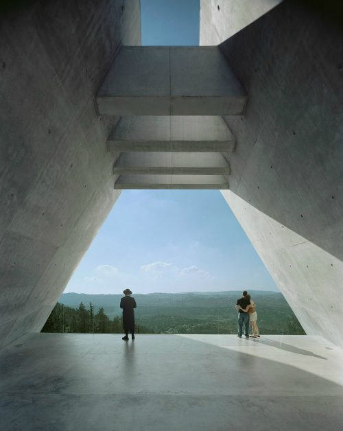 Yad Vashem Holocaust Museum_View at end of prism_image by Timothy Hursley_CP