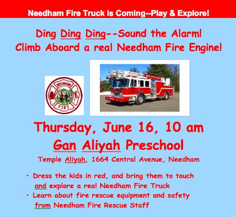 Fire truck flyer image