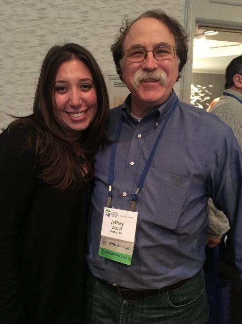 Jeffrey Woolf with Sara Hefez