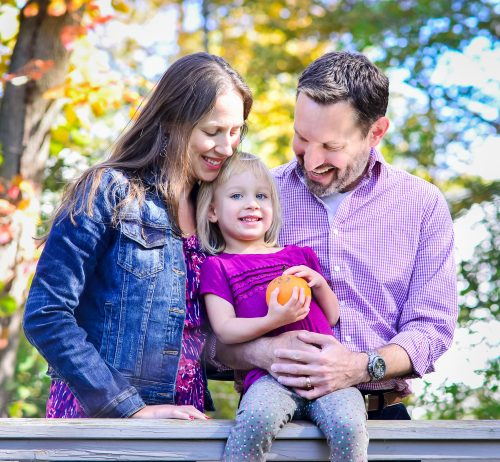 Elisha Gechter with her husband and daughter