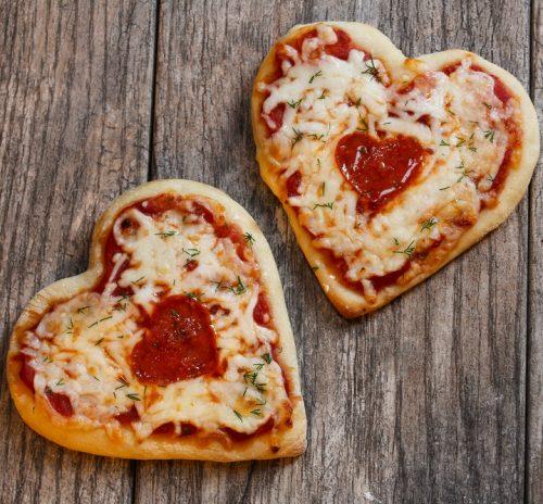 Heart shaped Pizza for Tu B'Av
