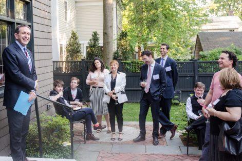 Matt Nosanchuk, far left, recently spoke in Cambridge at the invitation of Keshet. (Photo credit: Keshet/Jordyn Rozensky)