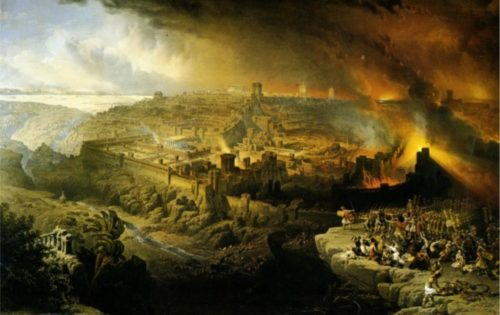 The Destruction of Jerusalem in 70 AD (Louis Haghe)