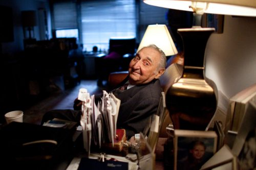 Fyvush Finkel in 2011. (Credit Karly Domb Sadof for The New York Times)