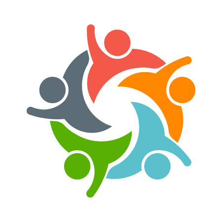 43475654 - teamwork people logo. image of five persons