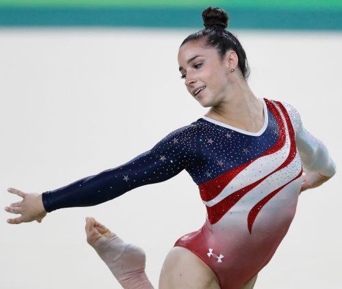 Aly Raisman during the 2016 Rio Olympics (Photo: Agência Brasil Fotografias)