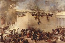 Destruction of the Temple of Jerusalem(1866) by Francesco Hayez