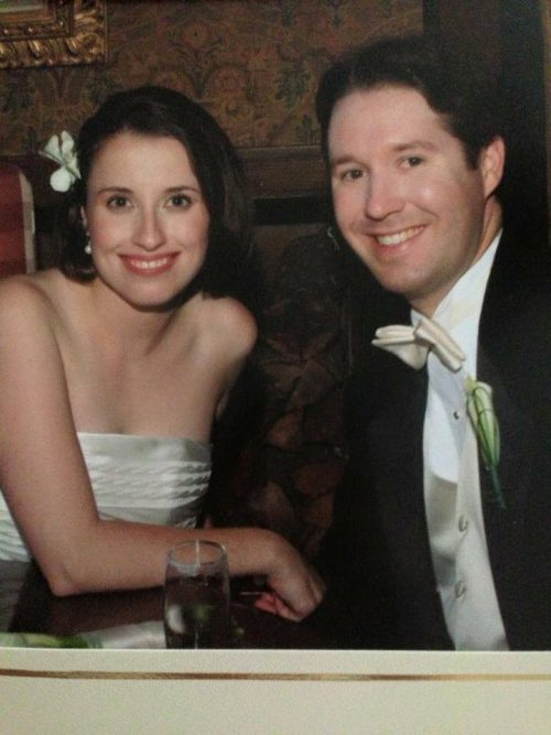 Kara and her husband, Brian, on their wedding day in 2006.