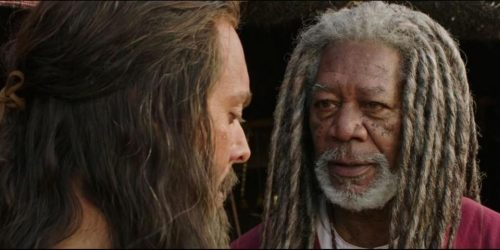 """Jack Huston and Morgan Freeman star in the new adaptation of """"Ben-Hur."""" (PARAMOUNT PICTURES)"""
