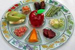 In many Jewish homes there is the custom of a Rosh Hashanah seder. This dish has a section for every item that appears on the table: pomegranate, apple, fish, dates, carrots, leek, beets and squash, each one symbolizing something different. (ThinkStock)