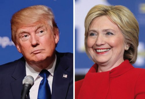 2016 Presidential candidates Donald Trump and Hillary Clinton
