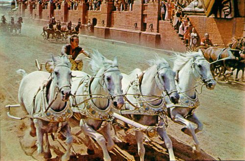 Charlton Heston as Ben-Hur in 1959 (Courtesy Metro-Goldwyn-Mayer)