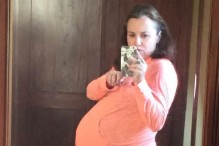 Kara at 34 weeks pregnant