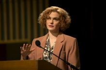 "Rachel Weisz stars as acclaimed writer and historian Deborah E. Lipstadt in ""Denial,"" a Bleecker Street release. (Photo credit: Laurie Sparham/Bleecker Street)"