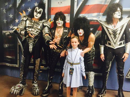 Shayna with KISS (Courtesy Julianne Rose)