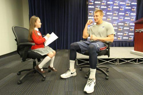 Shayna Rose interviews Rob Gronkowski (Courtesy Julianne Rose)