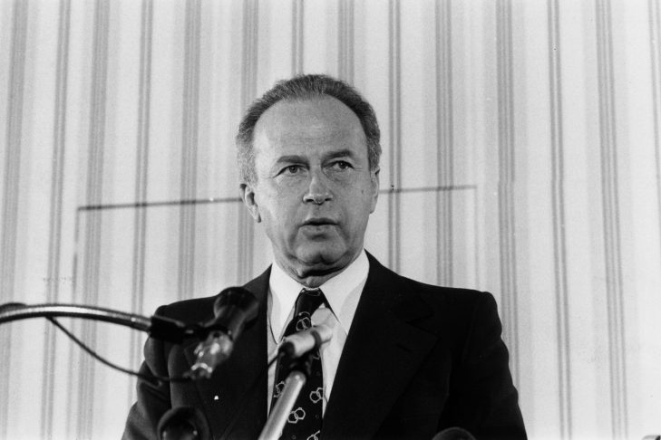 Yitzhak Rabin in 1974 (Photo by Evening Standard/Getty Images)