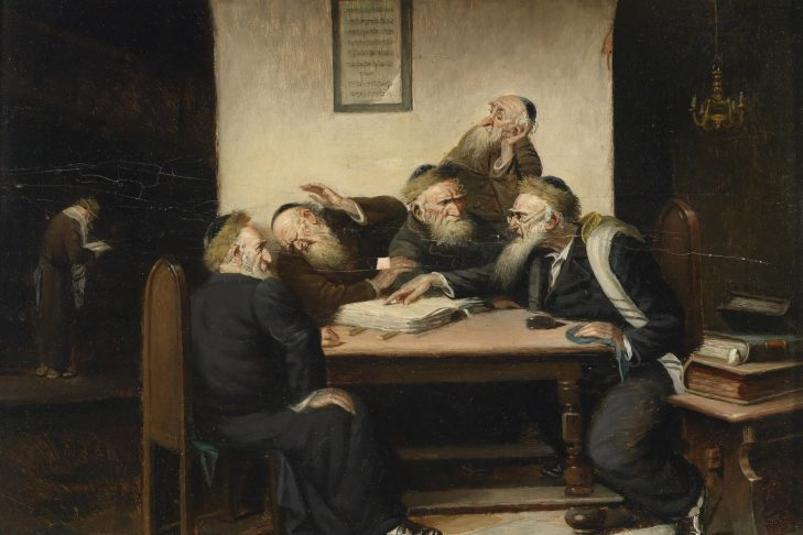 A Controversy Whatsoever on Talmud by  Carl Schleicher (1825-1903)