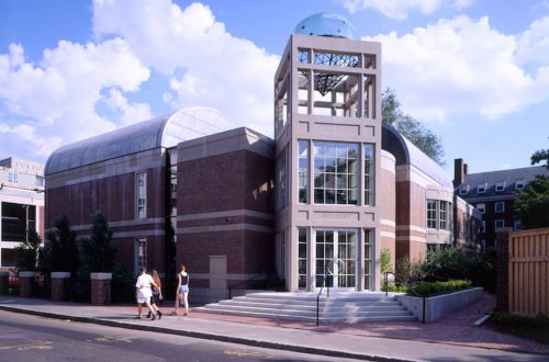The Harvard Hillel, Rosovsky Hall in Harvard Square, was designed by Moshe Safdie. (Courtesy of Safdie Architects)