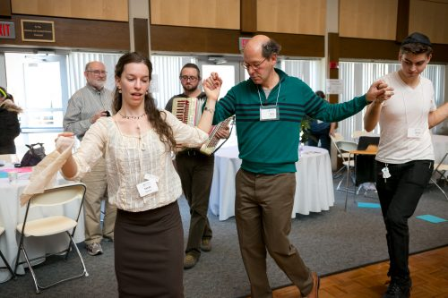 Israeli dancing at LimmudBoston 2015 (Photo: Meri Bond Photography)