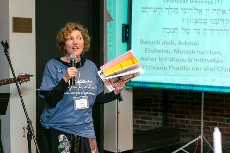 Steffi Aronson Karp at LimmudBoston 2015 (Photo: Meri Bond Photography)