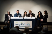 "A panel at last week's ""Interfaith Opportunity Summit."" (Courtesy InterfaithFamily)"