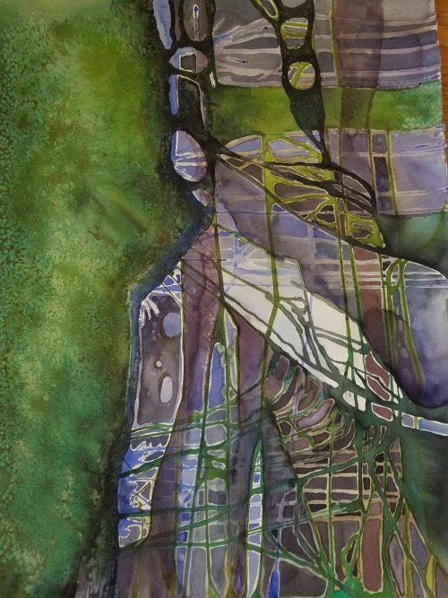 """""""Untitled"""" by Inna Zhukovsky Zilber (Courtesy Mayyim Hayyim)"""