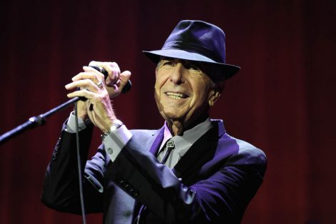 Leonard Cohen in concert at the O2 Arena in London on Sept. 15, 2013. (Photo by Brian Rasic/Getty Images)